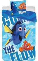 Disney Finding Dory The Flow - Kinderdekbedovertrek - Eenpersoons - 140x200 + 1 kussensloop 63x63 - Multi