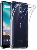 Hoesje CoolSkin3T TPU Case voor Nokia 7.1 Transparant Wit
