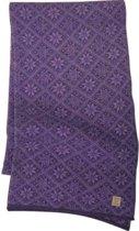 Ivanhoe gebreide sjaal van wol Elsie Purple - One Size 185 x 27 -Paars