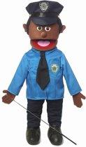 Handpop Politieagent donker Sillypuppets