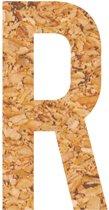 Kleefletter - plakletter - prikbord - kurk - vegan - letter R - 58 cm hoog