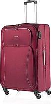 Travelz - Softspinner reiskoffer - Trolley 67 cm - incl. cijferslot - Gevoerde binnenkant - Rood
