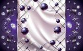 Fotobehang Modern, Slaapkamer | Zilver, Paars | 416x254
