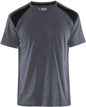 Blåkläder 3379-1042 T-shirt Bi-Colour Grijs/Zwart maat M