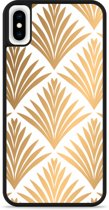 iPhone Xs Max Hardcase hoesje Art Deco Gold