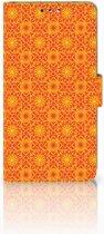 Nokia 8 Boekhoesje Design Batik Orange