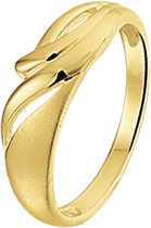 The Jewelry Collection Ring Poli/mat - Geelgoud
