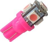 T10 - ROZE - 5 LED - 12V - 5050 SMD