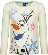 Frozen t-shirt Olaf wit 128 (8 jaar) - voor meisjes
