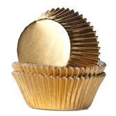House of Marie Cupcake vormpjes Folie Goud pk/24