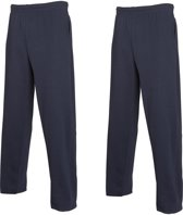 2-Pack Fruit of the Loom Joggingbroek (met rechte Pijp) Zwart Maat S