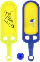 Toi-toys Slag- En Vangbalspel Klittenband Blauw/geel 40 Cm