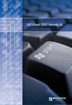 MS Excel 2003 Vervolg NL + oefenbestanden downloadbaar via www.broekhuis.nl/werkdisk