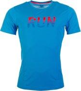 Puma Running T-shirt Heren Sportshirt - Maat S  - Mannen - blauw/rood