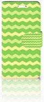 Acer Liquid Z330 Boekhoesje Design Waves Green