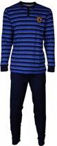 M.E.Q Heren Pyjama Blauw Maten: S