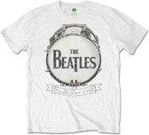 The Beatles - World Tour 1966 heren unisex T-shirt wit - XXL