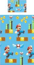 Super Mario Maker - Dekbedovertrek - Eenpersoons - 135 x 200 cm - Blauw