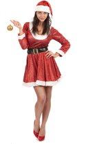 """""""Kerstvrouw kostuum met lovertjes voor vrouwen - Verkleedkleding - Medium"""""""