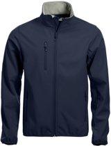 Clique Basic Softshell - Jacket - Donkerblauw - Maat S
