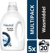 Neutral 0% Parfumvrije Wasmiddel Zwart - 100 wasbeurten - 5 x 1 l