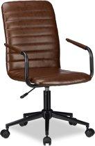 relaxdays bureaustoel - directiestoel - computerstoel - hoogte verstelbaar - kunstleer
