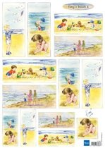 Hobby wenskaartenpakket - Marianne Design decoupage x1 Tiny's beach 2 - 10 stuk