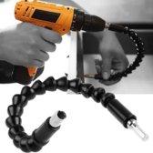 Flexibele Bit Houder 295mm – Elektrische Boor Schroefmachine – Magnetisch – Flexibel – Multifunctionele Bithouder – Bit Set – Schroevendraaier – Snelspan – Haakse – Adapter - Zwart – 1 Stuks – EPIN 3D