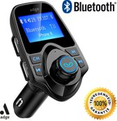 Bluetooth FM Transmitter, 120 ° Rotatie Auto Radio Adapter CarKit met 4 Music Play Modes / Hands-free Bellen / TF Kaart / USB Auto Lader / USB Flash Drive / AUX Input / Output 1.44 inch LCD Display/ Bluetooth Carkit 5 in 1