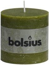 Bolsius Stompkaars Stompkaars 100/100 rustiek Olijfgroen