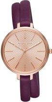 Michael Kors Jaryn MK2576 - Horloge - Leer - Paars - 38 mm