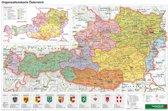 Österreich Organisiation Planokarte 1 : 1 300 000