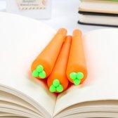 Set van 2 Zwarte Fineliners Wortel   Grappige School Pennen