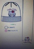 Hello Kitty muts en sjaal roomwit mt 54
