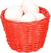 Rood paasmandje met piepschuim eieren 14cm  mandjes met paaseieren