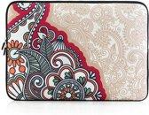 Laptop sleeve tot 15.4 inch met Paisley print – Beige/Multicolour