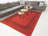 Minori Modern Lijstmotief Rood Vloerkleed 200 X 290 Cm