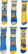 6 paar sokken Minions maat 27-30
