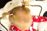 Kerst Pompom Elastiekjes | Baby Meisje | Haarlok Elastiekjes | Set van 2