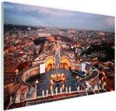 Sint-Pietersplein Rome Glas 30x20 cm - klein - Foto print op Glas (Plexiglas wanddecoratie)