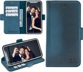 Bouletta Lederen Apple iPhone Xs Max Hoesje - BookCase - Dark Blue