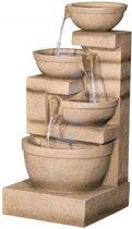 Waterornament Kendal 3-Laagse Waterval met LED Verlichting van Ambiente - Fontein creme, 85cm