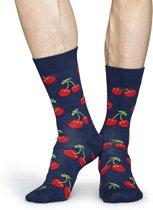 Happy Socks Cherry Sokken - Donkerblauw - Maat 41-46