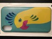 iphone x hoes met vogel geel