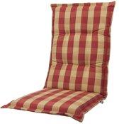 Tuinkussen Hoge rug Kopu® Country Red 125x50 cm - Met opbergtas