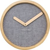 NeXtime Calm - Klok - Rond - Ø30 cm - Grijs