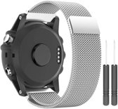 Just in Case Garmin Fenix 3 / Fenix 3 HR Milanees armband - zilver