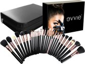 Evvie professionele 29-delige make-up kwasten set Deluxe Visagie kwastenset