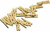 60x mini knijpertjes goud - 2 cm - mini knijpers