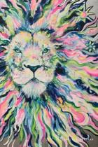 ''Leo'' by Jennifer Moreman: Beautiful Lion 120 page Wide Rule Lined Notebook by Artist
